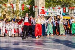 全国主权和儿童`的s波黑天庆祝-土耳其 库存图片