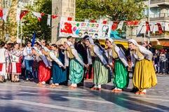 全国主权和儿童`的s波黑天庆祝-土耳其 免版税库存照片