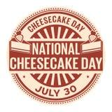 全国乳酪蛋糕天 库存例证