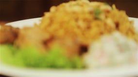 全国亚洲和阿拉伯烹调 米和肉盘 Pilau,米,意大利煨饭 影视素材