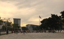 全国体育场公园曼谷泰国- 2017年10月1日 免版税库存照片