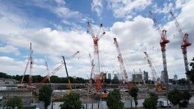 全国体育场建设中在东京 股票录像
