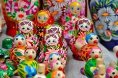 全国俄国木玩具 库存图片