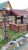 全国喀山村庄在城市的中心,客人和本机的 免版税库存照片