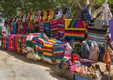 全国墨西哥纪念品的明亮的颜色 库存图片