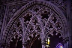 全国大教堂,内部的片段 库存图片