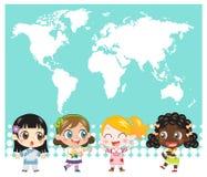 全国孩子 免版税库存图片