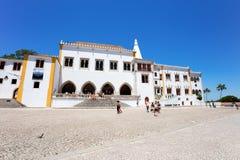 全国宫殿在辛特拉,葡萄牙,在里斯本附近的好的城市 免版税图库摄影