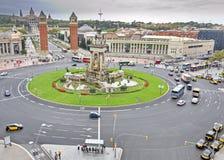 全国宫殿在Montjuic,巴塞罗那,西班牙 库存图片