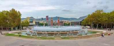 全国宫殿在Montjuic,巴塞罗那,西班牙 免版税库存图片