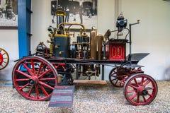 全国技术博物馆内部在布拉格 在一一百年广泛的co期间 免版税图库摄影