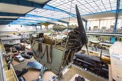 全国技术博物馆内部在布拉格 在一一百年广泛的co期间 免版税库存照片