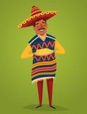 全国服装的墨西哥人用玉米,传染媒介 库存图片