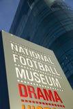 全国橄榄球博物馆的入口标志 库存照片
