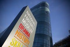 全国橄榄球博物馆的入口标志 免版税图库摄影