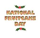 全国水果蛋糕天 库存照片