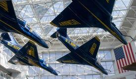 全国海军航空博物馆蓝色天使飞机 免版税库存照片