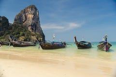全国渔夫小船在泰国 库存照片