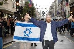 全国演示:现在的正义使正确为巴勒斯坦伦敦 库存照片