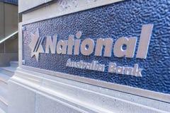 全国澳大利亚银行标志特写镜头  免版税库存照片