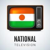 全国电视尼日尔 免版税库存图片