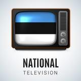 全国电视爱沙尼亚 免版税图库摄影