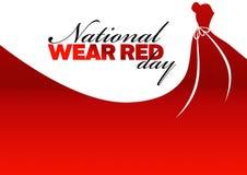全国穿戴红色天假日 库存例证
