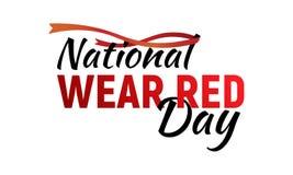 全国穿戴红色天 向量例证