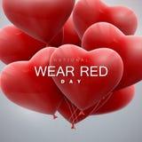 全国穿戴红色天 库存例证