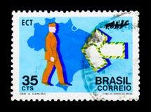 全国综合化,社会serie竞选,大约1972年 免版税库存照片