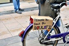 全国罢工在布鲁塞尔 免版税图库摄影