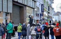 全国罢工在布鲁塞尔 免版税库存照片