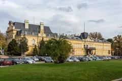 全国美术画廊,索非亚,保加利亚大厦  免版税库存照片