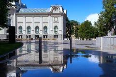 全国美术馆的大厦在里加 免版税库存图片