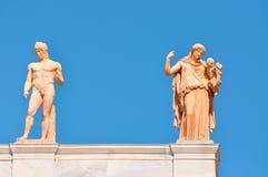 全国考古学博物馆在雅典,希腊。雕刻o 免版税图库摄影