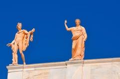 全国考古学博物馆在雅典,希腊。雕刻o 免版税库存图片