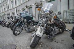 全国肉猪集会哈尔登,挪威2014年6月12日到15日(自行车) 免版税库存照片