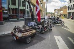 全国肉猪集会哈尔登,挪威2014年6月12日到15日(自行车) 库存图片