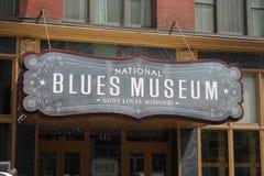 全国蓝色博物馆标志,圣路易斯密苏里 库存照片