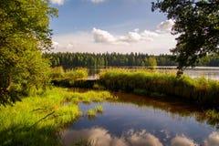 全国被保存的自然区域Kladska Glatzen -捷克 库存图片