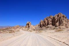 全国路线40, quebrada de las Flechas,打破的箭头,萨尔塔, Cafayate,阿根廷 免版税库存照片