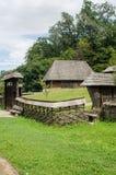 全国阿斯特拉博物馆在锡比乌-老传统房子(许多样式和形式) 库存照片