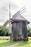 全国阿斯特拉博物馆在锡比乌-老巨大的旋转的风车 库存图片