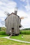 全国阿斯特拉博物馆在锡比乌-老巨大的旋转的风车 图库摄影
