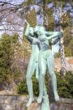 全国雕塑公园Millesgarden在斯德哥尔摩 免版税库存图片