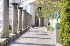 全国雕塑公园Millesgarden在斯德哥尔摩 免版税库存照片