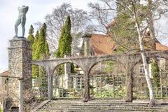 全国雕塑公园Millesgarden在斯德哥尔摩 库存照片