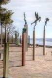 全国雕塑公园Millesgarden在斯德哥尔摩 库存图片