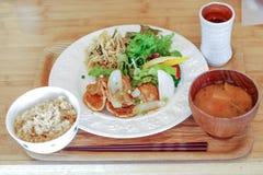 全国食物日本人烹调 图库摄影