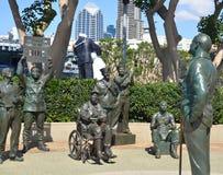 全国致敬的古铜色雕象对鲍勃・霍普的 免版税库存照片
